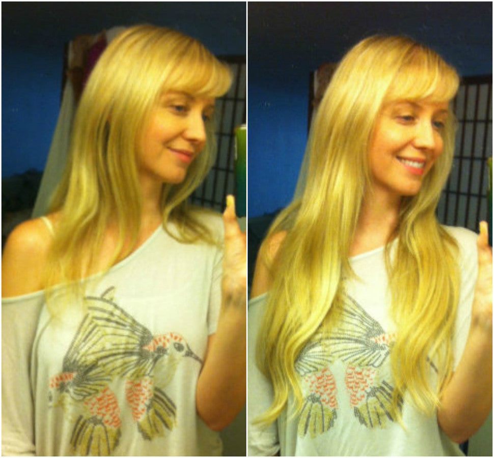 "tressmatch human hair clip in extensions 20 "" blonde"