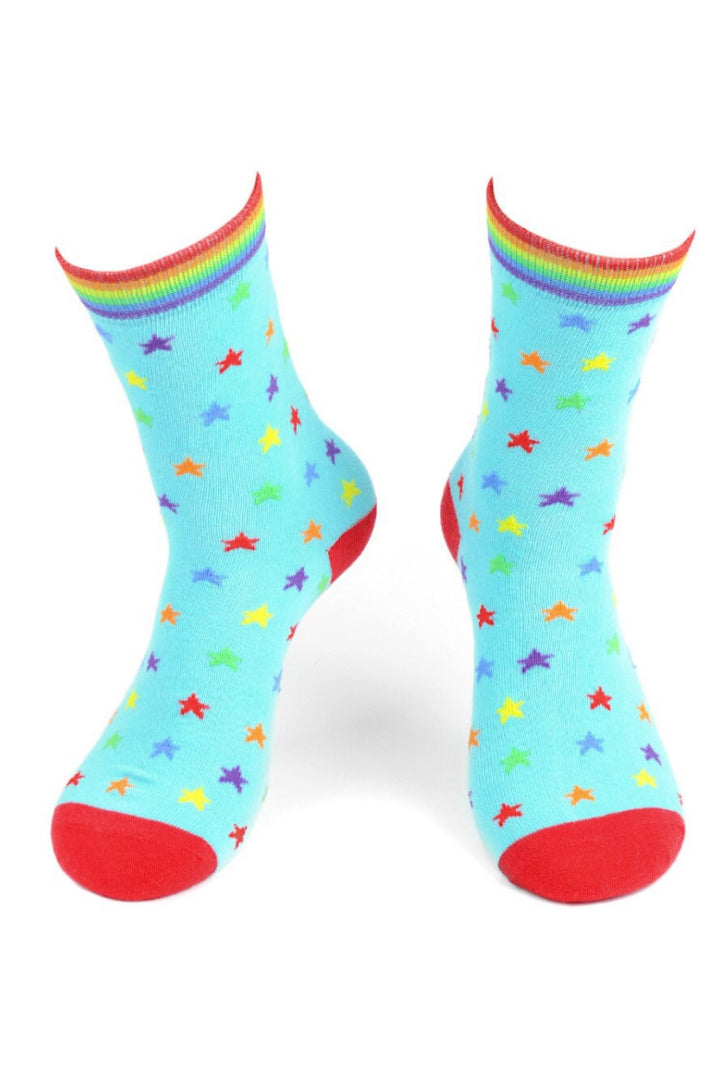 Rainbow Stars Socks