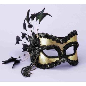 Half Mask Black & Gold - Corvus: Clothing and Curiosities