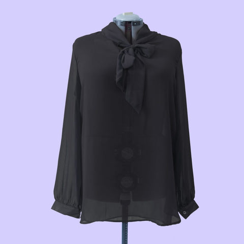 Black Bow Top - Corvus: Clothing and Curiosities