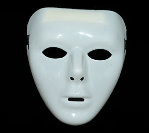 White Faceless Half Mask - Corvus: Clothing and Curiosities