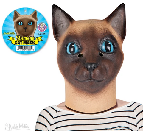 Siamese Cat Mask - Corvus: Clothing and Curiosities