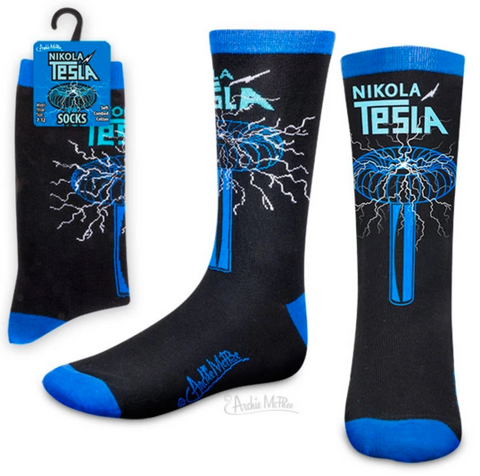 Nikola Tesla Socks - Corvus: Clothing and Curiosities