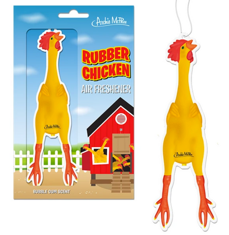 Rubber Chicken Air Freshener - Corvus: Clothing and Curiosities