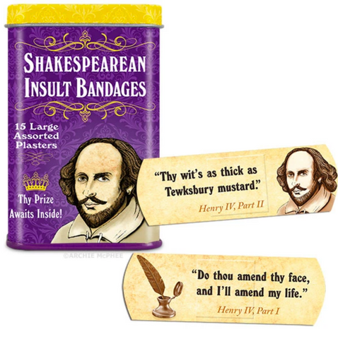 Shakespearean Insult Bandages - Corvus: Clothing and Curiosities