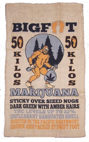 Bigfoot Burlap Bag - Corvus: Clothing and Curiosities