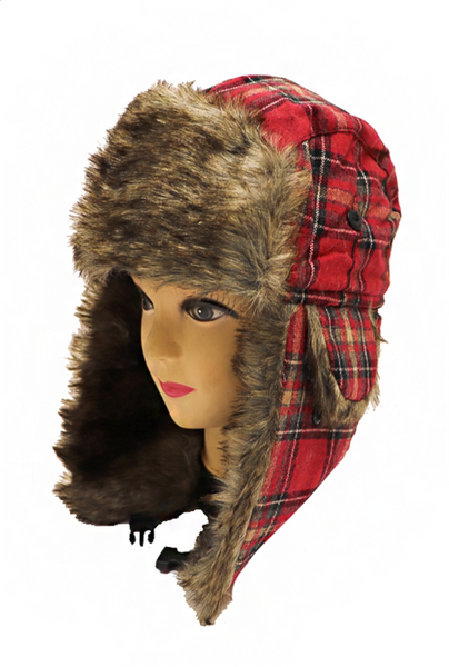Faux Fur Lined Bomber Hat