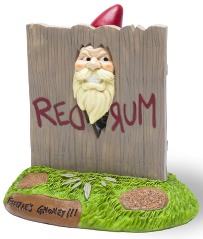 "The ""Here's Gnomey"" Garden Gnome - The Shining Movie Themed Gnome - Corvus: Clothing and Curiosities"