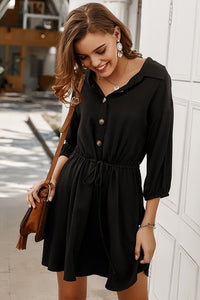 Black Button Down Dress - Corvus: Clothing and Curiosities