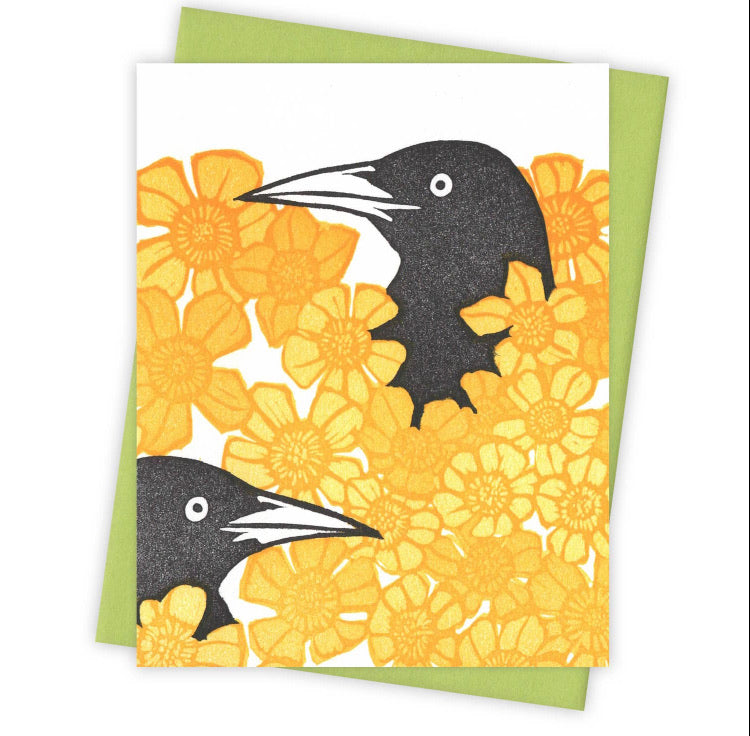 Buttercup Grackle Card