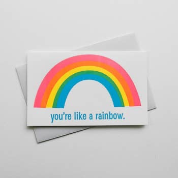 Rainbow Greeting Card - Corvus: Clothing and Curiosities