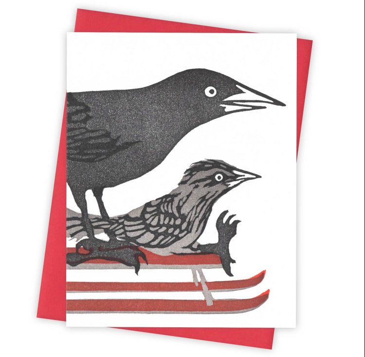 Snow Day Grackle Card