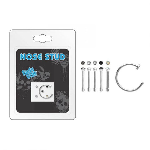 Nose Stud and Hoop Set 6pc - Corvus: Clothing and Curiosities