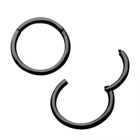 "Black Segment Ring 18g 5/16"" diam"