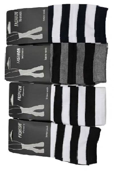 Striped knee hi Socks - Corvus: Clothing and Curiosities