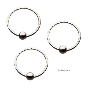 Sterling Silver Nose Ring 3pc Set - Corvus: Clothing and Curiosities