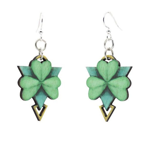 Geometric Shamrock Earrings