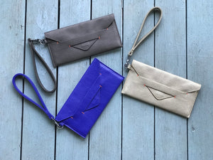 Royal Blue Delancey Wristlet Wallet