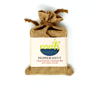 Peppermint Vegan Cleanser Bar & Mesh Scrub