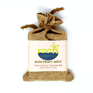 Rosemary Vegan Cleanser Bar & Mesh Scrub
