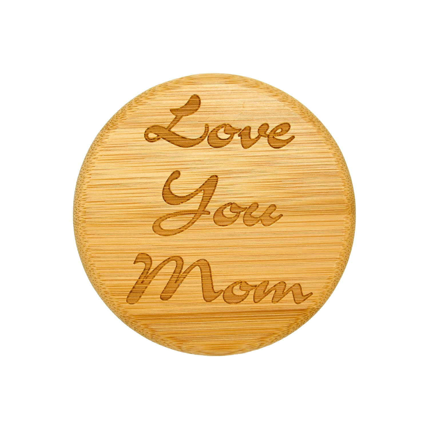 Love You Mom Bamboo Lid Gift Jar