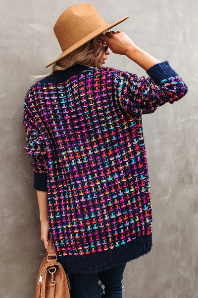 Colorful Knitted Cardigan