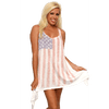 Image of USA Flag Women's Flare Dress Faded Vintage Look Cover Up