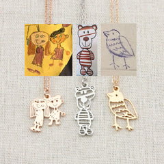 Custom children's painting necklace