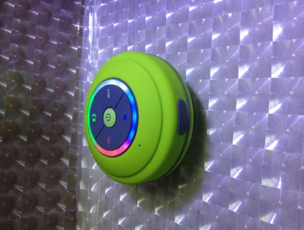 Wireless Shower Speaker with FM Radio and LED Lights