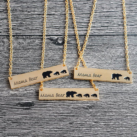 Custom Mama Bear Bar Necklace