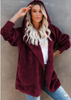 Warm Winter Nights Coat in Deep Red