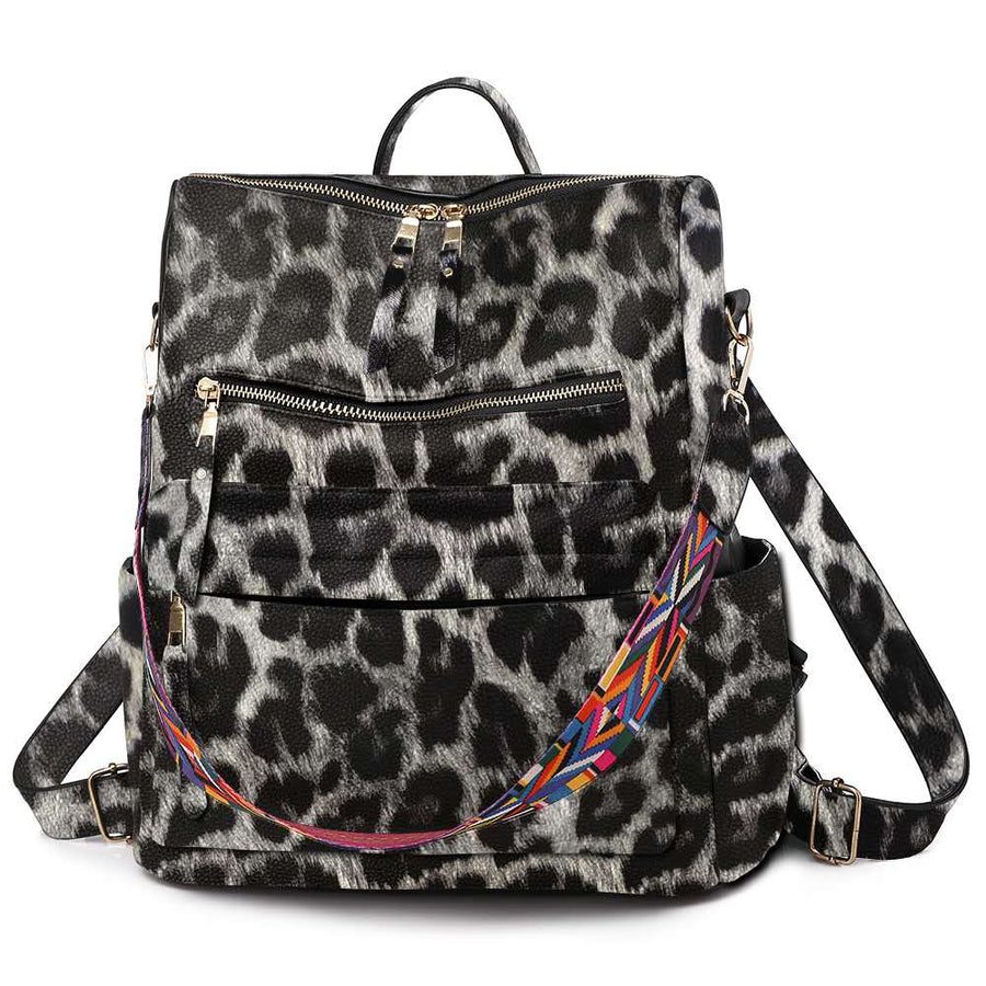 Leopard Guitar Strap Backpack