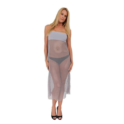 Women's Crochet Swimwear Cover up Long Skirt Made in the USA
