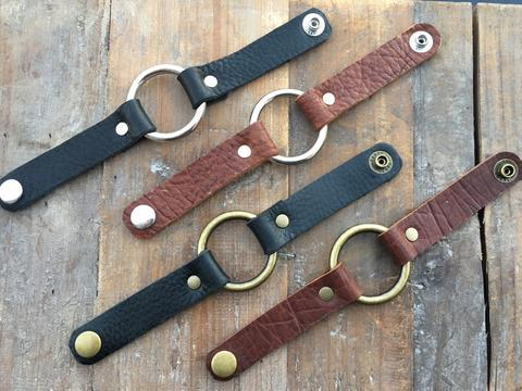 GENUINE LEATHER O-RING BRACELET