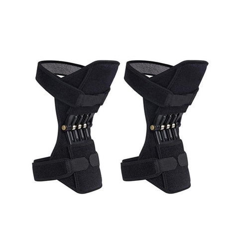 1 Pair Sport Basketball Breathable Non-Slip Lift Joint Support Knee Pad Powerful Rebound Spring Force Knee Booster Knee Support