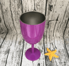 Wine Glass Stainless Steel Double Wall Insulated Metal Goblet With Lid Tumbler