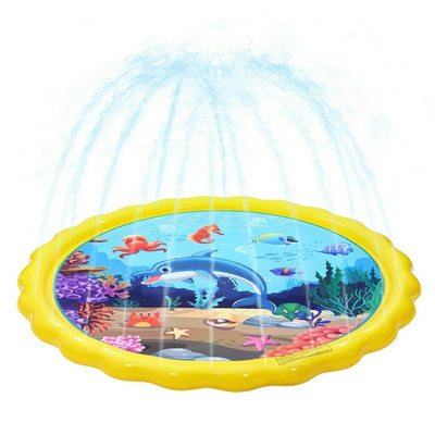 Water Sprinkler for Kids Sprinkler Pad & Splash Play Mat Water Toys 68 Inch New