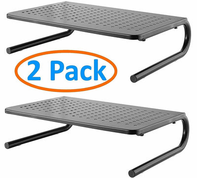 2 Pack Vented Monitor Stand for Computer, Laptop Metal Monitor Riser