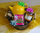 Bees and Tea Gift Basket