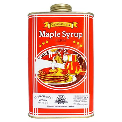 Dutchman's Gold Maple Syrup - 1 Litre Metal Can