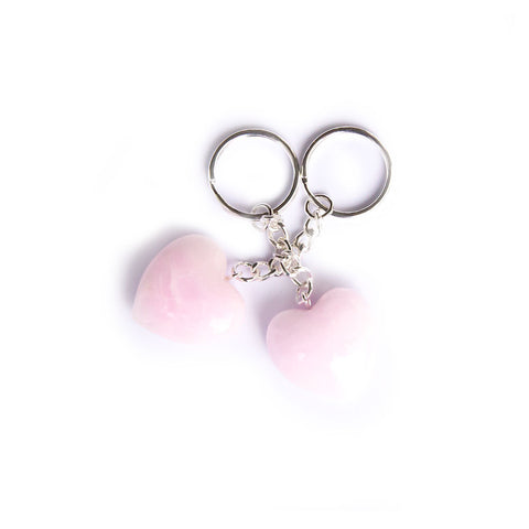 Argonite heart keychain