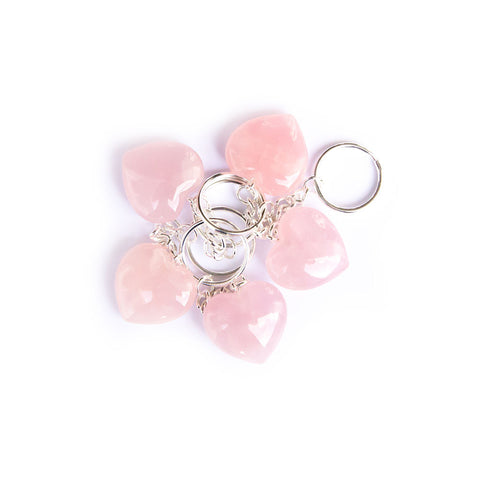 Rose Quartz keychain