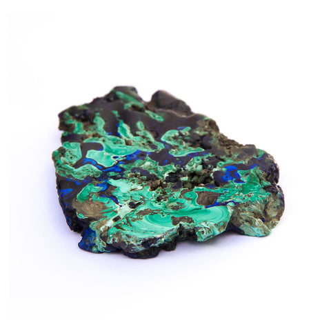 Azurite & Malochite Slice