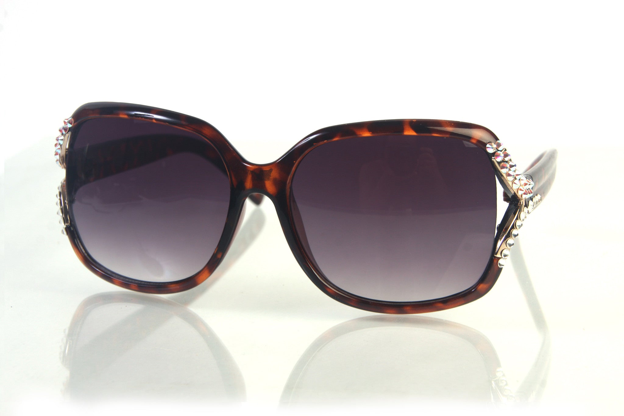 Designer Inspired Womens Fashion Handmade Rhinestone Sunglass HO9848