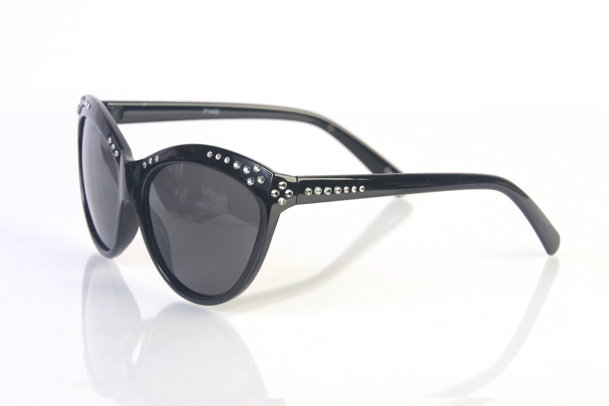 Women's Handmade Designer Rhinestone Cat Eye Fashion Sunglasses HP1409
