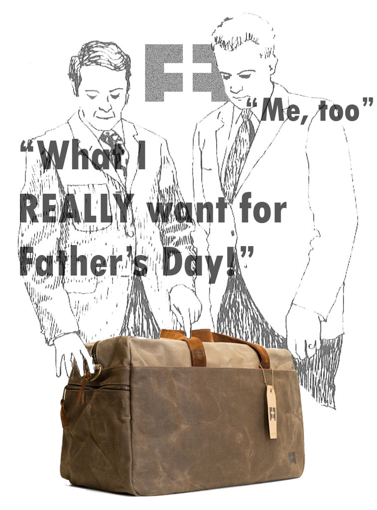 father's day weekender duffel waxed canvas earth