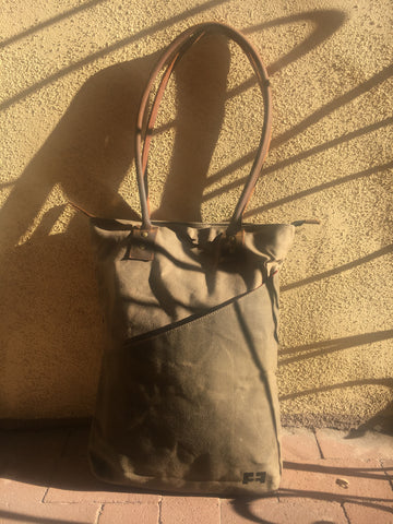 the joplin tall tote in earth taos