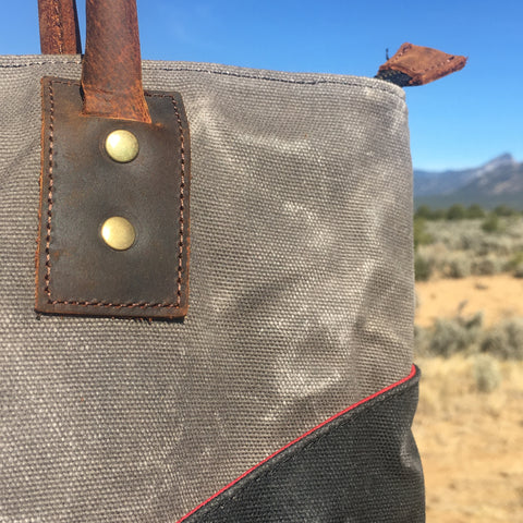 JOPLIN TALL TOTE Detail in CLOUD