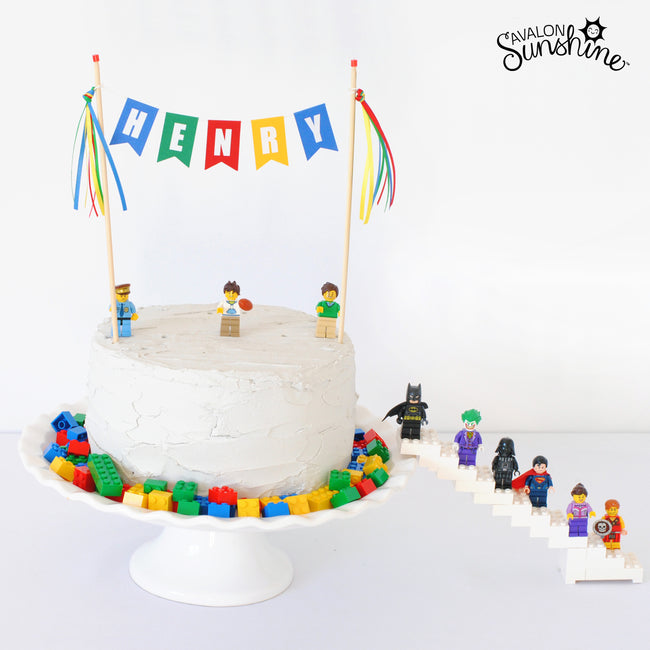 Cake Gallery:  Lego Party Cake the Easy Way!