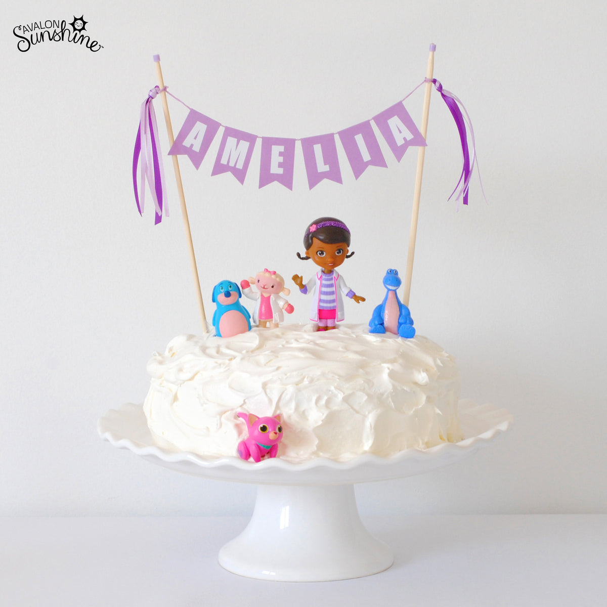 Awesome Toys On Cakes Doc Mcstuffins Avalon Sunshine Birthday Cards Printable Nowaargucafe Filternl